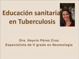 Educación sanitaria en Tuberculosis
