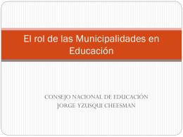 La responsabilidad de las Municipalidades en Educación