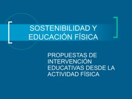 SOSTENIBILIDAD Y EDUCACIÓN FÍSICA