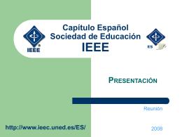 Capítulo Español Sociedad de Educación IEEE