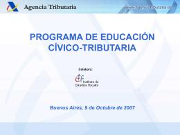 Programa de Educación Cívico tributaria de la AEAT de España
