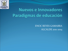 Nuevas e Innovadoras de Paradigmas de educación