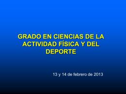GRADO de CIENCIAS DE LA ACTIVIDAD FÍSICA Y DEL DEPORTE