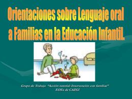 Orientaciones a Familias en la Educación Infantil. EOE de Olvera