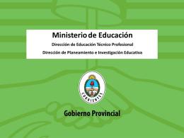 Redes Sectoriales - Dirección de Educación Técnico Profesional