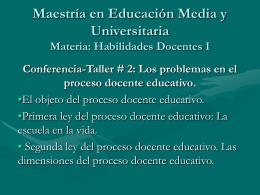Maestría en Educación Física. Materia: Pedagogía