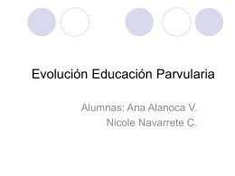 Evolución Educación Parvularia