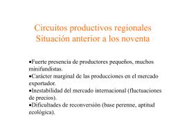 Economías Regionales. Modernización productiva y exclusión