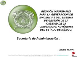 evidencia objetiva - Universidad Autónoma del Estado de México