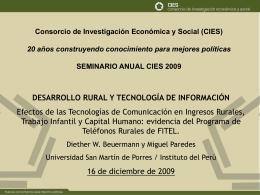 evidencia del - Consorcio de Investigación Económica y Social