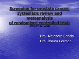 Screening de Cáncer de Próstata