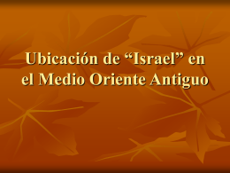 """Ubicación de """"Israel"""" en el Medio Oriente Antiguo"""