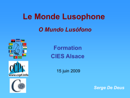 Le Monde Lusophone