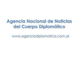 nosotros - Agencia Nacional de Noticias del Cuerpo Diplomatico