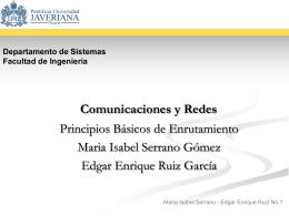 Protocolos Enrutados - Departamento de Ingeniería de Sistemas