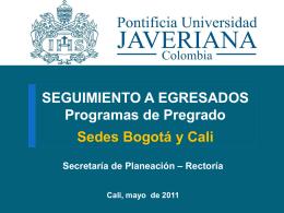 Diapositiva 1 - Pontificia Universidad Javeriana, Cali
