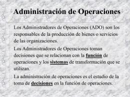 Administracion de operaciones-diapositivas