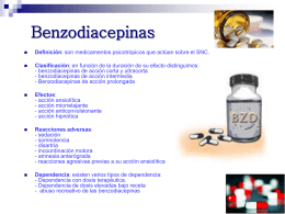 Benzodiacepinas y