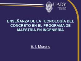 ENSEÑANZA DE LA TECNOLOGÍA DEL CONCRETO EN EL