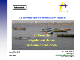 Nuevo Modelo Regulatorio para Iberoamérica.