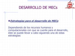 Presentación 5 - Desarrollo de MECs