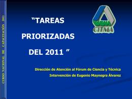 Diapositiva 1 - Portal Nacional del Fórum de Ciencia y Técnica