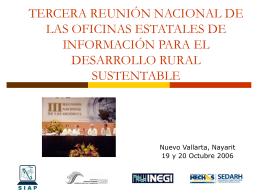 tercera reunión nacional de las oficinas estatales de información