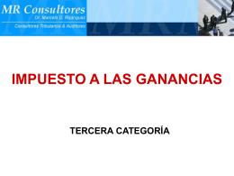 08- Impuesto a las Ganancias TERCERA CATEGORIA