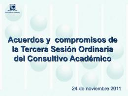 Acuerdos y compromisos de la Tercera Sesión Ordinaria del