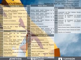 Agenda Semanal