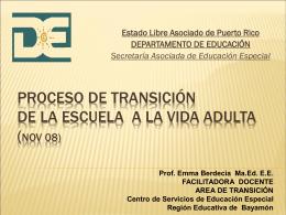 Proceso de Transición de la escuela a la vida adulta