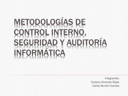 Metodologías de control interno, seguridad y auditoría informática