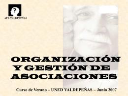 organización y gestión de asociaciones