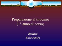 nascita bioetica - Corso di laurea in Infermieristica