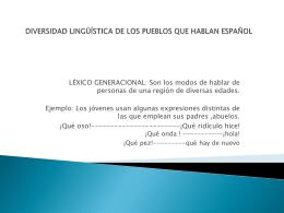 diversidad lingüística de los pueblos que hablan español
