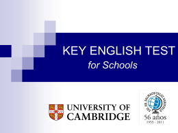 KEY ENGLISH TEST for Schools