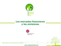 Los Fondos de Carbono - Fundación Empresa & Clima