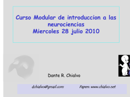 Curso Modular de introduccion a las neurociencias