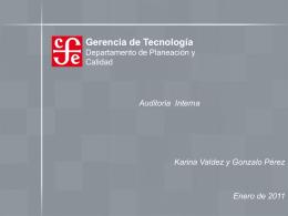 Curso Auditoría Interna - Fondo de Cultura Económica
