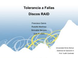 RAID 1 - LDC - Universidad Simón Bolívar