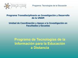 Tecnologías de la Educación