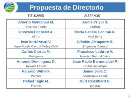 Diapositiva 1 - Asociación de Empresas de Alimentos de Chile