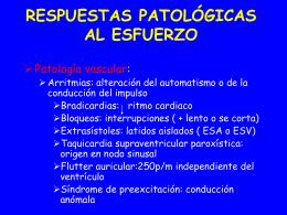RESPUESTAS PATOLÓGICAS AL ESFUERZO