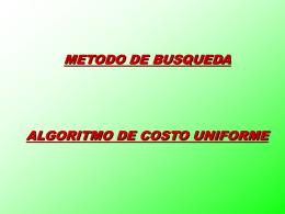 busqueda costo uniforme