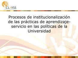 Institucionalización de las prácticas de aprendizaje