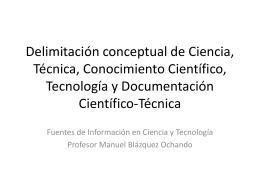 Delimitación conceptual de ciencia, técnica
