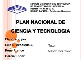 Presentacion Ciencia y Tecnologia