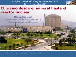 Uranio: desde el mineral hasta el reactor nuclear