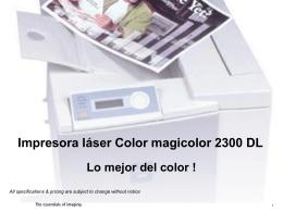 Impresora Láser Color 2300 DL Calidad de Impresión