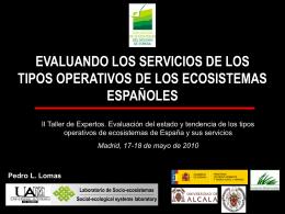 (I) (SERVICIOS DE LOS ECOSISTEMAS)